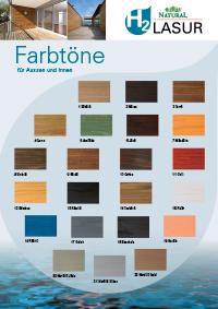 H2 Holzlasur - Farbtonkarte